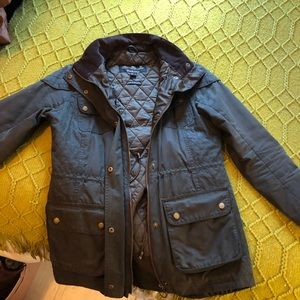 Barbour quilted jacket w/removable hood